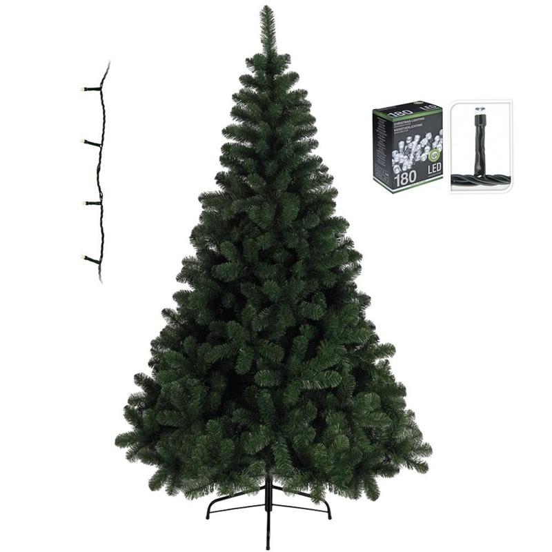 Kunst kerstboom 120 cm incl. warm witte lampjes