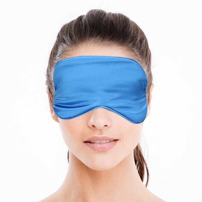 Luxe slaapmasker- reismasker met zachte vulling blauw