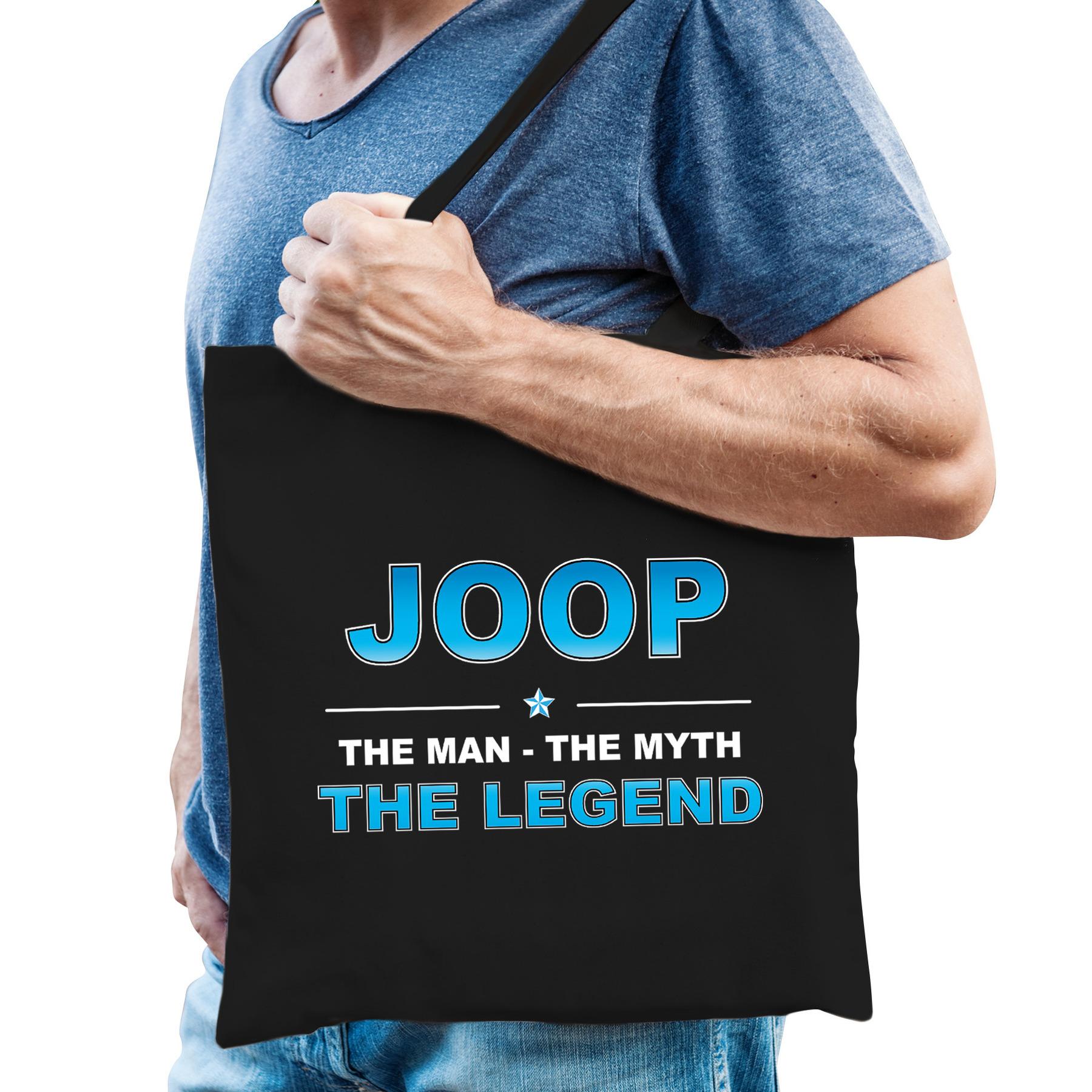 Naam cadeau tas Joop the legend zwart voor heren