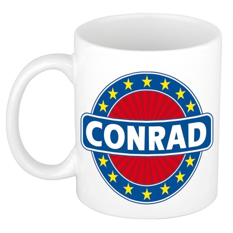 Naamartikelen Conrad mok-beker keramiek 300 ml