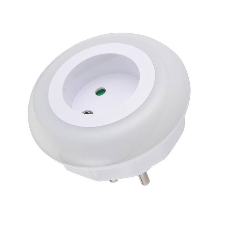 Nachtlamp met LED sensor voor in stopcontact