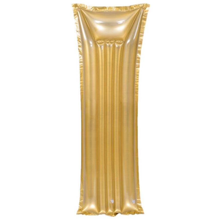 Opblaasbare zwembad luchtbed matras goud van 183 x 69 cm