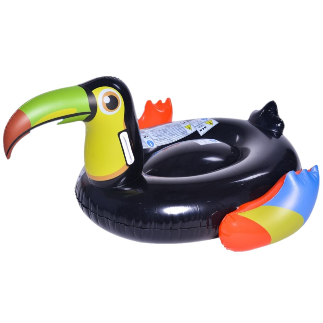 Opblaasbare zwembad luchtbed-ride-on dieren toekan 128 x 104 cm