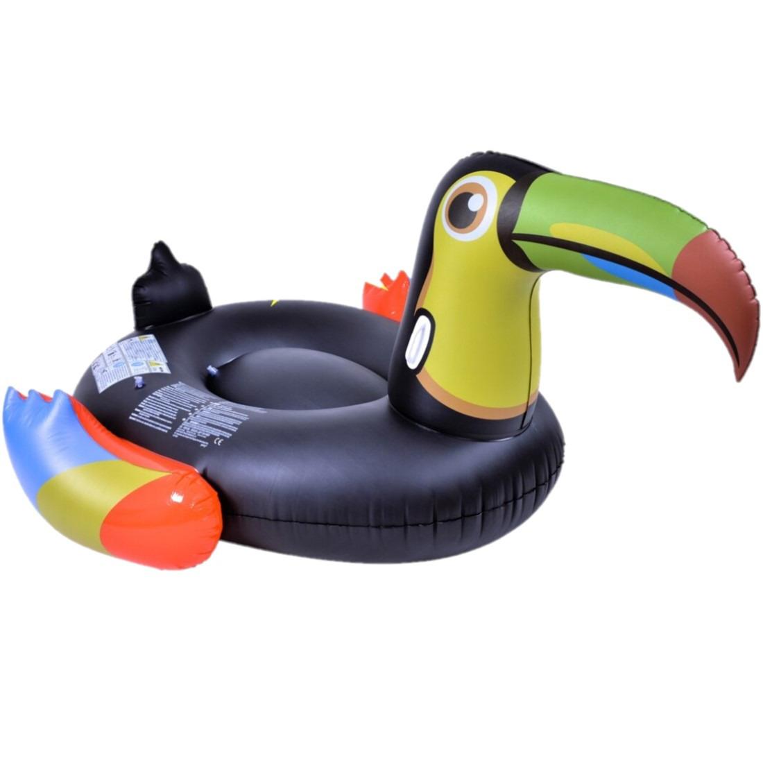 Opblaasbare zwembad luchtbed-ride-on dieren toekan 208 x 156 cm