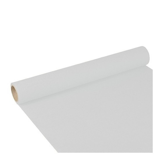 Papieren tafelloper wit 300 x 40 cm