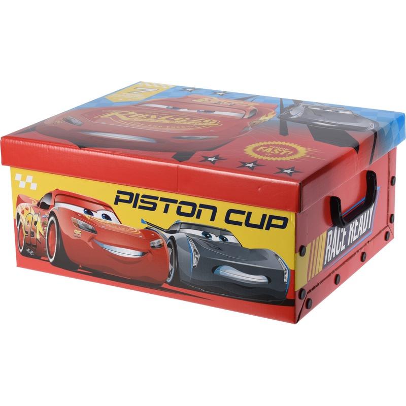 Rode opbergbox-opbergdoos Disney Cars 37 cm