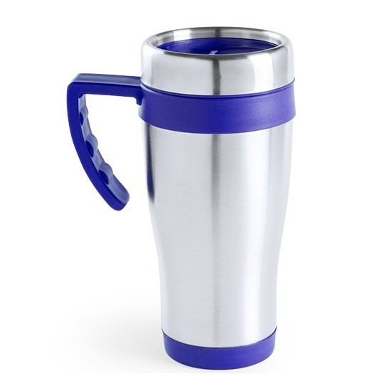 RVS thermosbeker-warm houd koffiebeker blauw 500 ml