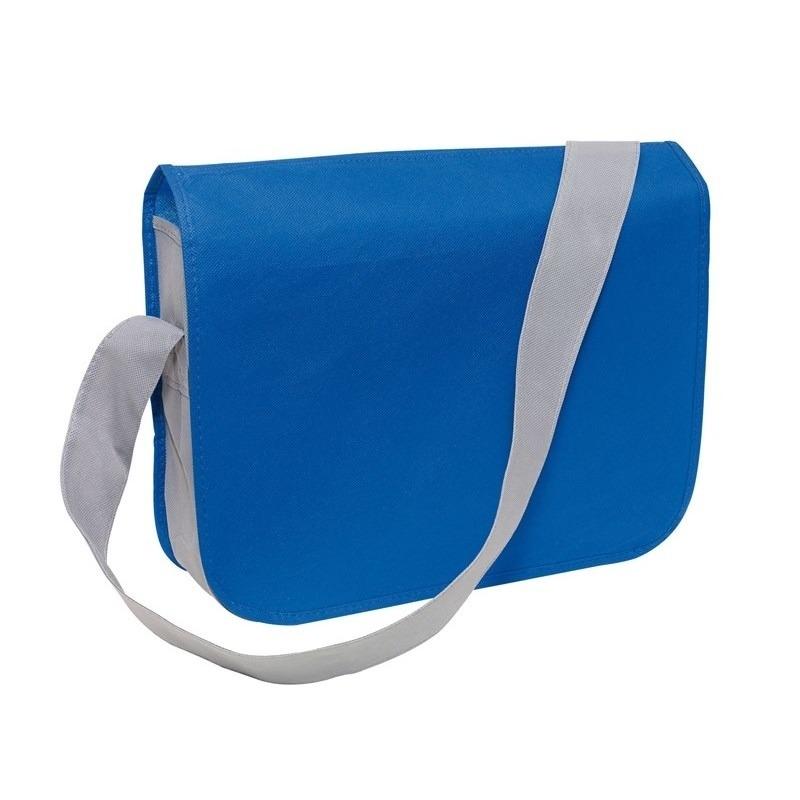 Schooltas blauw-grijs 36 x 8 x 30 cm
