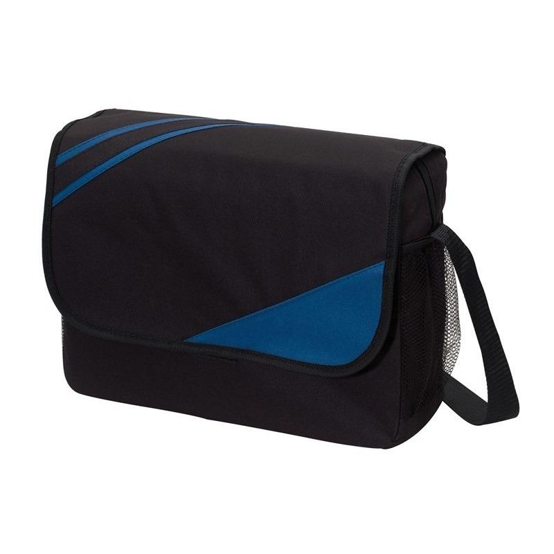 Schooltas zwart-blauw 39 x 28 x 11 cm
