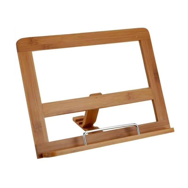 Tablet-iPad houder van bamboe hout 32 cm