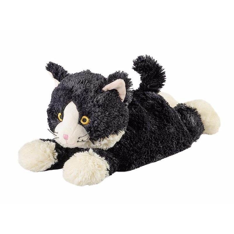 Warmteknuffel kat zwart 38 cm knuffels kopen
