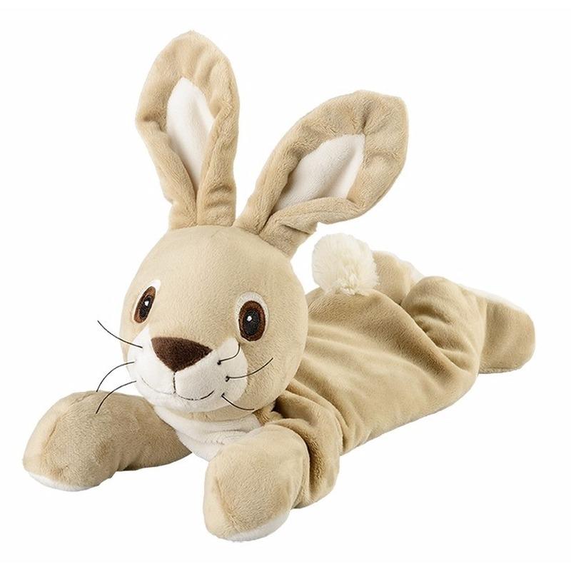 Warmteknuffel konijn-haas beige 35 cm knuffels kopen