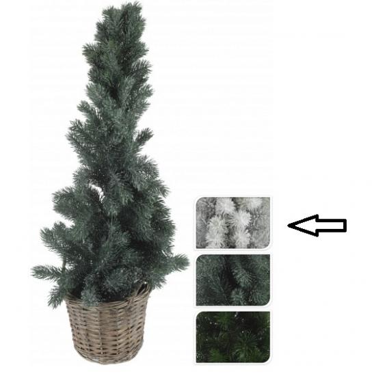 Witte kunst kerstboom in mand 80 cm