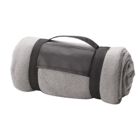 Woondeken-bankdeken grijs 130 x 160 cm