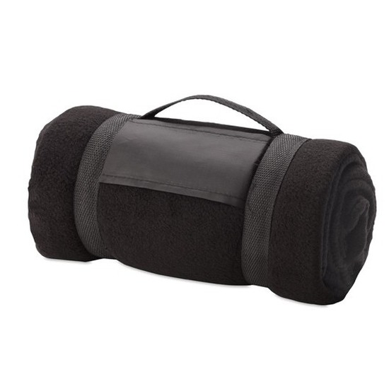 Woondeken-bankdeken zwart 130 x 160 cm
