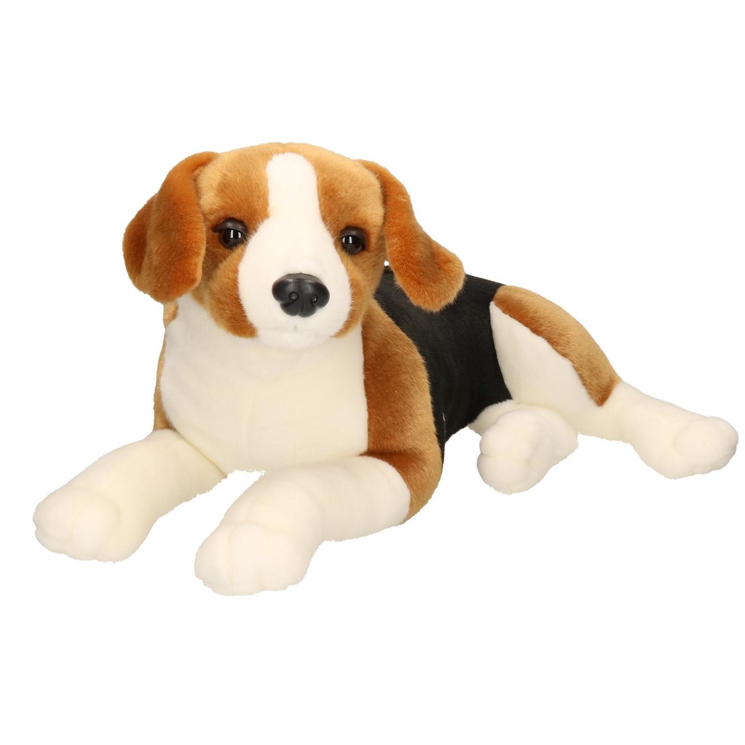 XL Knuffel Beagle hond bruin-zwart 53 cm knuffels kopen