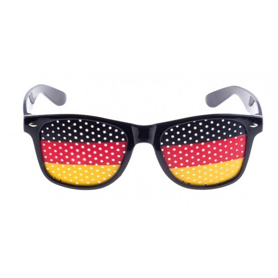 Zwarte Duitsland vlag bril voor volwassenen